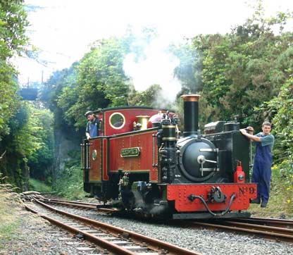 Mid Wales steam engine picture